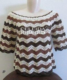 Вязание ажурной блузки