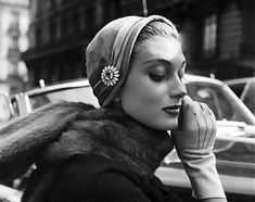 Capucine photographed by Regina Relang, Paris, 1954.