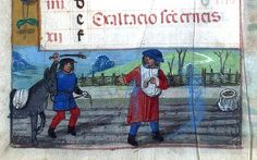 The Labours of the Months, September - Book of Hours  Brotherton Collection MS 9 University of Leeds