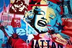 MARILYN MONROE MONTAGE poster pop ART colorful EMPIRE state building 24X36 | eBay