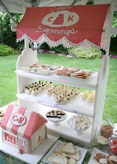 Sweets display.... love it!!!