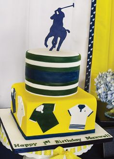 {Ralph Lauren Inspired} Polo Club First Birthday Party // Hostess with the Mostess® Baby Boy 1st Birthday, 10th Birthday, First Birthday Parties, Birthday Party Themes, First Birthdays, Birthday Cake, Birthday Ideas, Polo Baby Shower, Baby Shower Fall