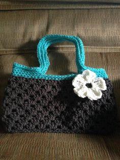 (4) Name: 'Crocheting :  Long Strap Boutique Bag