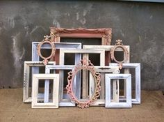 'Shabby' French picture frames