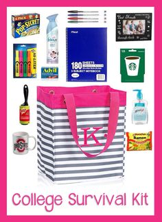 College Survival Kit - first year students would love this ESSENTIAL STORAGE TOTE from Thirty One- fill it with the must haves for college life - tote has lots of uses ! Go to: mythirtyone.com/461058