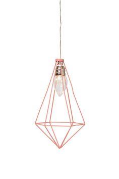 pyramid hanging cage light