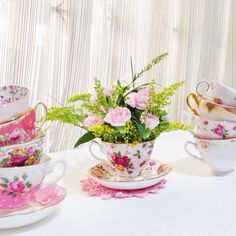 some of my pink teacups
