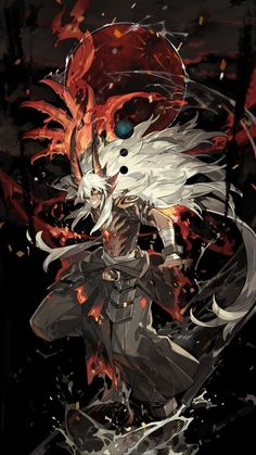 After giving his life to save another, (Y/N) wakes up after a month long coma to find he sees life in a completely new way. Being granted the powers of the Gam. Dark Fantasy Art, Anime Fantasy, Fantasy Artwork, Demon Artwork, Fantasy Men, Anime Warrior, Anime Demon, Fantasy Character Design, Character Art