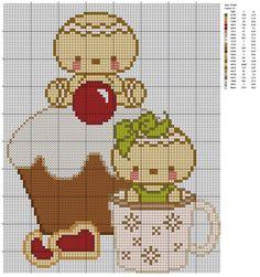 Free Kawaii Hama Perler Bead Pattern or Cross Stitch Chart