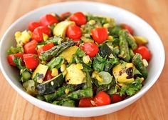 Grilled Vegetable Salad Recipe from Real Restaurant Recipes