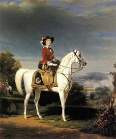 The Empress of the French, equestrian portrait by Charles-Édouard Boutibonne, 1856
