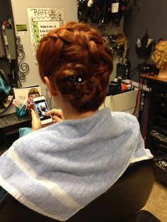 braid, long hair...