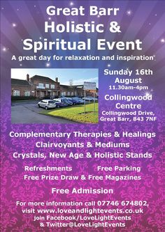 Great Barr Holistic & Spiritual Event on 16th August
