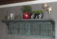 use the the spare bi-fold door for a shelf for the shed?