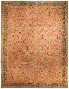 Persian rugs: Persian rug (antique) rug in red color, oriental rug, oriental pattern for modern, elegant interior decor, rug in living room #rug #persianrug