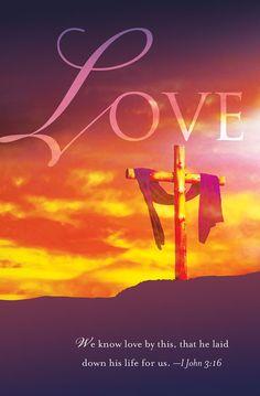Cokesbury - Love Good Friday Bulletin 2013, Regular (Package of 50)
