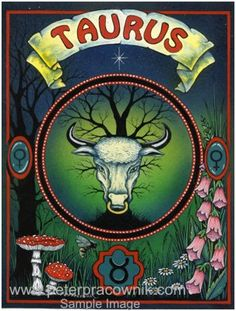 AstroSpirit / Taurus ♉ / Earth / The Bull / Artist Peter Pracownik Taurus Art, Taurus Traits, Astrology Taurus, Taurus Love, Zodiac Signs Taurus, Taurus Woman, Zodiac Art, My Zodiac Sign, Taurus Female
