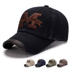 db3708d06c4 Men s Cotton Baseball Cap Plain Washed Ballcap Letters Embroidery Strapback  Hat  fashion  clothing  shoes  accessories  mensaccessories  hats (ebay  link)