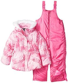 online shopping for Rothschild Little Girls' Snowsuit With Printed Puffer Coat from top store. See new offer for Rothschild Little Girls' Snowsuit With Printed Puffer Coat Snow Fashion, Girl Fashion, T Length Dress, Snow Wear, Snow Outfit, Line Jackets, Lounge Wear, Little Girls, Kids Outfits