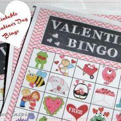 Printable Valentine Bingo Cards AND Matching Printable Bag Toppers!
