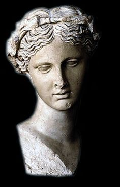 Marble bust of Thalia, Muse of Comedy | Rome Period: Hellenistic Age (4th-1st century B.C.)