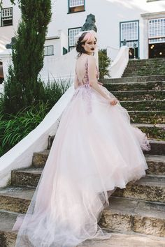 Tulle Ball Gown, Ball Gowns, Mauve, Wedding Colors, Couture, Wedding Dresses, Claire, Train, Fashion