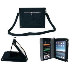 WCI Fashionable Leather Mini Messenger Portfolio Case for Apple iPad 2, With Extra Purse Pockets And Strap $25