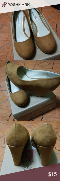 Brown Wedge Heels NEW WITH BOX. Only tried on shoes. Suade material, super cute. Open to offers Bonnibel Shoes Heels