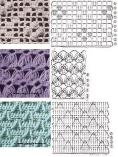 lots of crochet stitch patterns Tutorial ♡ Teresa Restegui http://www.pinterest.com/teretegui/ ♡