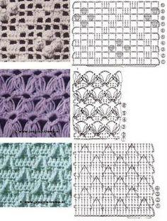 lots of crochet stitch patterns Tutorial ♡ Teresa Restegui http://www.pinterest.com/teretegui/ ♡