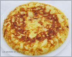 Los sentidos en la cocina: TORTILLA DE PATATAS Y CEBOLLA CON POCO ACEITE EN OLLA GM F