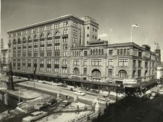 Montreal businessman Henry Morgan spared no expense in the when he set out to build the structure that now houses the Hudson& Bay department store. Montreal Qc, Montreal Ville, Canada Eh, Photo Vintage, Canadian History, Hudson Bay, Canadian Rockies, Quebec City, Beautiful Architecture