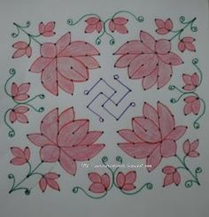 Lotus and Swastika- for Lakshmi Pooja