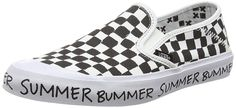 Vans Slip On SF Summer Bummer Surf Shoe Black White Checker Womens 10 *** Check out this great product.