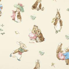 Cute fabric for a baby room: RABBIT.13.140 €14,95 per meter, 100%CO at www.kidsfabrics.eu