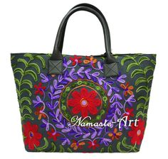 Indian Woman Embroidery Art Shoulder Cotton Suzani & Tote Handbag Beach Boho Bag #Unbranded #TotesShoppers