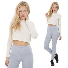 Try a crop jumper for a transitional look into AW/14, just £4.99 x http://hiddenfashion.com/new-in/new-in-clothing/soft-touch-cream-knitted-crop-jumper.html #summer #style #styleoftheday #ss14 #aw14 #crop #jumper #musthave #ootd #wiwt #new #newarrival#look  #trend #fashion #hiddenfashion