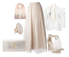 """""""Hijab Outfit"""" by le-hijab-de-doudou ❤ liked on Polyvore featuring Topshop, Jimmy Choo, Ben-Amun, Alice + Olivia, Yves Saint Laurent, Kimberly McDonald and Monsoon"""
