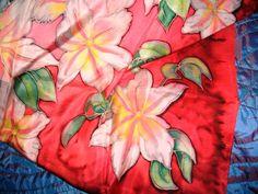Este lenço tem 16 h de trabalho e vou tornar a pintalo de uma maneira diferente, vamos ver se vai resultar
