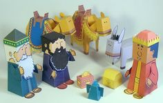 FREE Bible characters out of paper! Really nice! This one is the nativity scene! Just in time for Christmas