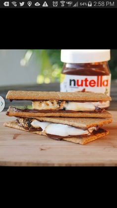 Smores made with the Nutella♡ genius !