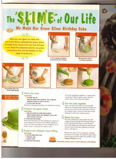 Nickelodeon Slime Cake Recipe- I still have this at my parents house! It is actually pretty good.