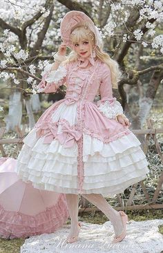 Hinana -Rococo- Vintage Classic Lolita OP Dress (Preorder - 9 Colors Available) Trendy How To Wear Clothes Dresses Style Ideas NEVER buy anything from MyLolitaDress, Milanoo, or LolitaWardrobe, they are SCAM SITES, if you like this dress please shop its o Harajuku Fashion, Kawaii Fashion, Cute Fashion, Dress Outfits, Fashion Dresses, Cute Outfits, Mode Lolita, Lolita Style, Mode Kawaii