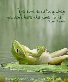 The time to relax is when you don't have the time for it. (via Facebook ~ Positivity Toolbox) #truethat #relax #quotes