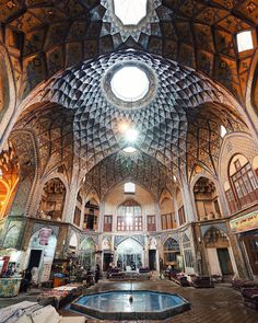 Iran 4/6 The inside of the beautiful old bazaar in Kashan. #MartinaPersia by kitkat_ch