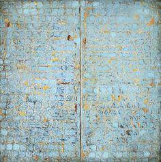 "Paul Ecke | Fractal 65 | mixed media on canvas, 48""x48"" /sm"