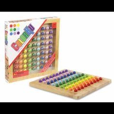 Looking for a challenging game for older kids & adults? ColorKu Solid Wood Game from Turner Toys & Hobbies is Sudoku in color!  Instead of numbers, you get colored marbles and a beautiful wooden board.