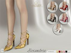 Madlen Alexandria Shoes  Pure perfection! For those who want to...      Madlen Alexandria Shoes    Pure perfection! For those who want to look classy for any occasion Come in 6 beautiful colours (cut out patent leather texture). Joints are perfectly assigned. All LODs are replaced with new ones.  You cannot change the mesh, but feel free to recolor it as long as you add original link in the description.  If you can't see this creation in CAS, please update your game. If you're experi..