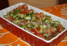 Salad Shirazi, Persian Tomato Cucumber Salad