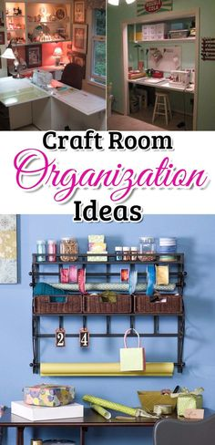 Great DIY craftroom organization ideas - get your craft room, sewing room, scrapbooking room, wrapping room organized